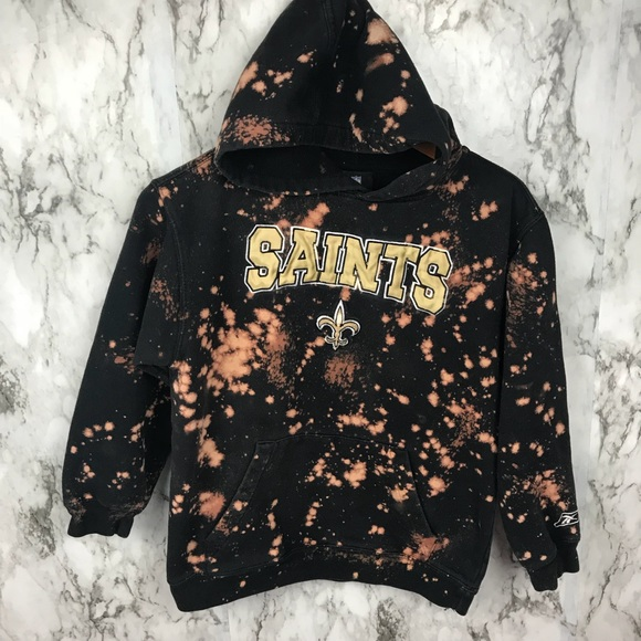 new styles af044 08754 NFL New Orleans Saints Hoodie Sweatshirt Acid Wash